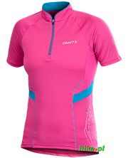 damska koszulka rowerowa Craft Active Bike Jersey różowa