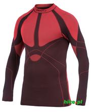 męska koszulka Craft Warm Crewneck czerwono-brązowa