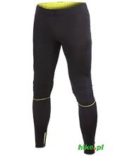 męskie spodnie do biegania Craft Performance Run Tights czarno-żółte