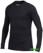 męska koszulka termoaktywna Craft Warm Wool Crew Neck czarna
