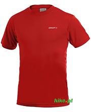 męska koszulka Craft Active Run Tee ciemno czerwona