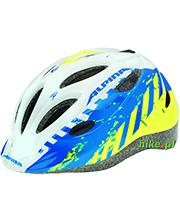 dziecięcy kask rowerowy Alpina Gamma 2.0 niebiesko-limonkowy