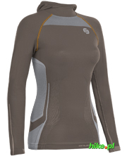 damska bluza z kapturem Brubeck Fitness Hooded Sweathirt cappuccino