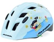 dziecięcy kask rowerowy Alpina Comet 2 Blue Pirate