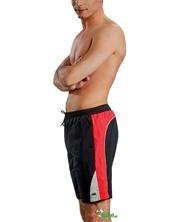 Męskie szorty kąpielowe Gwinner Bartek czarno-czerwone