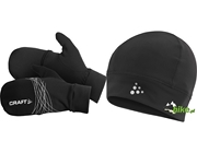 Czapka i rękawiczki do biegania Craft Hybrid Winter