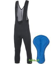 męskie spodnie 3/4 z wkładką rowerową Etape Race Lace czarne