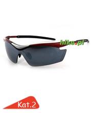 okulary sportowe Fischer FS-04B czarne/czerwone