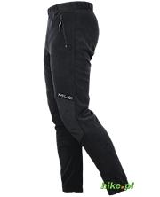 męskie spodnie polarowe Milo Orla Pants czarne