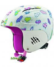 dziecięcy kask narciarski / snowboardowy Alpina Carat Hearts